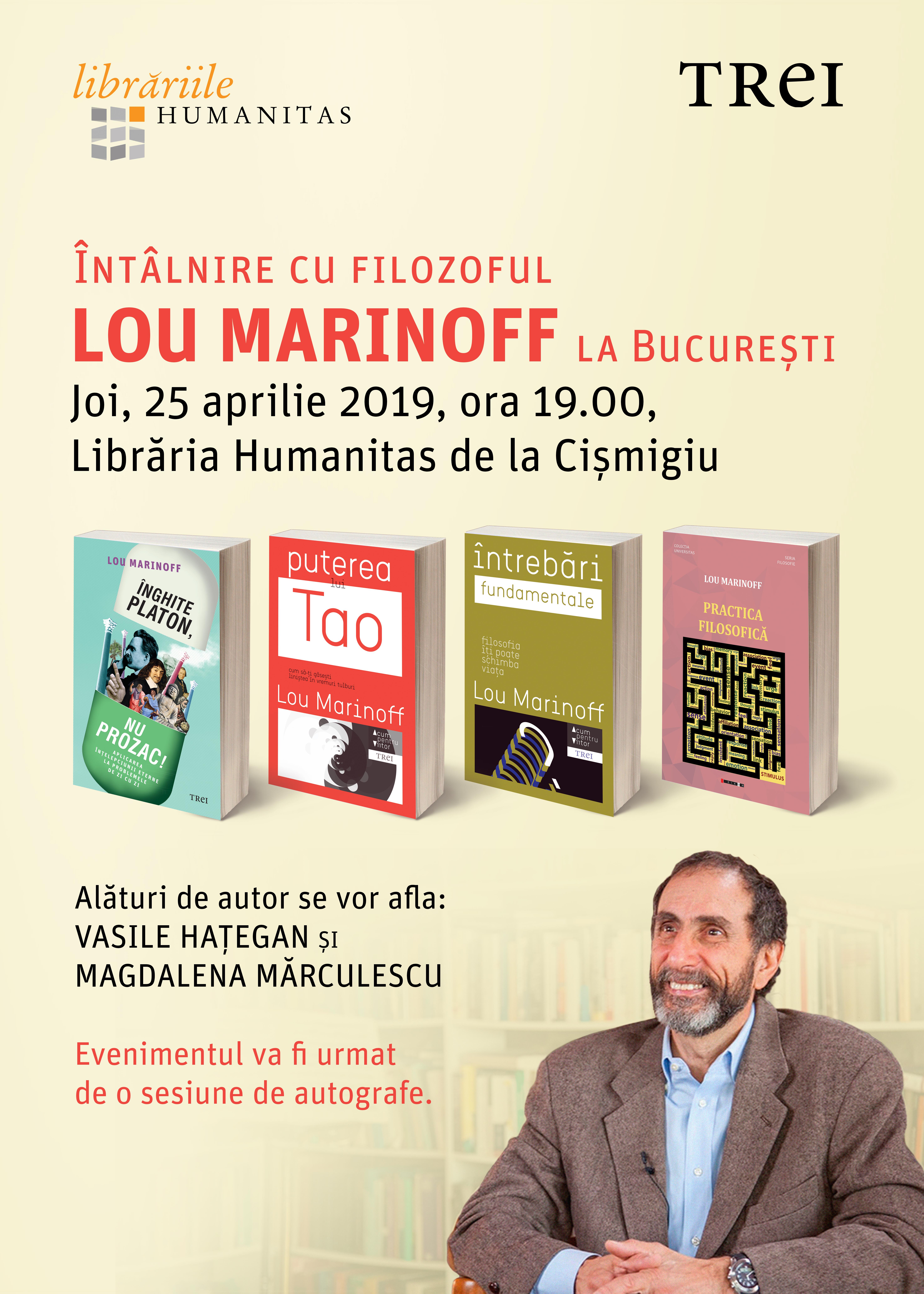Filosoful MARINOFF vine la București